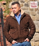Leather mens jacket - Aviator