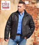 Leather mens jacket - Lars COFFEE