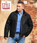 Leather mens jacket - Lars Black