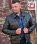 Leather jacket - KING Brown