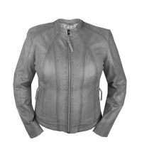 Big sizes women's leather jacket